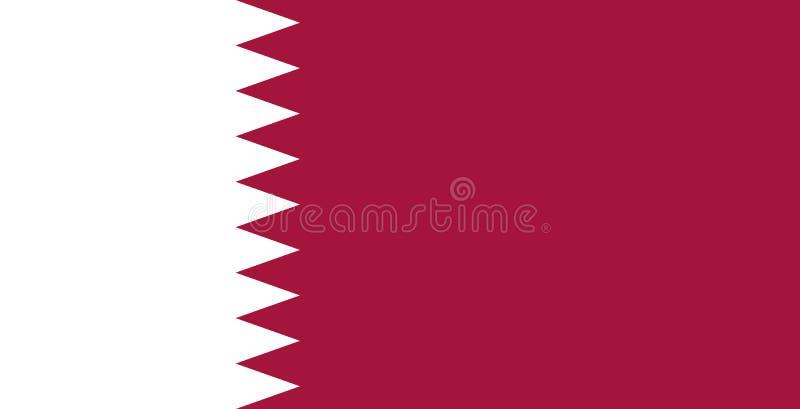 卡塔尔国旗 r Al Adaam 向量例证