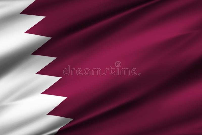 卡塔尔旗子例证 库存例证