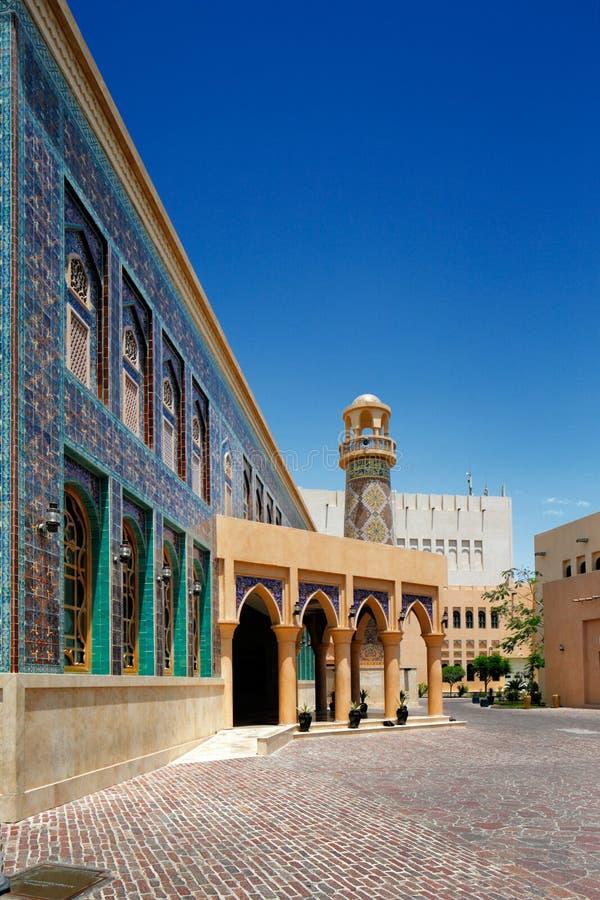卡塔拉是一个文化村庄在多哈,卡塔尔 免版税库存照片