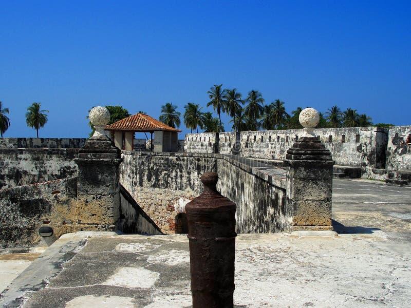 卡塔赫钠哥伦比亚堡垒 库存照片