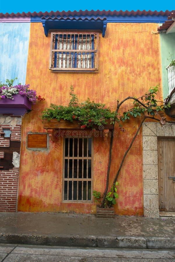 卡塔赫钠哥伦比亚,耶路撒冷旧城,旅行 免版税库存图片