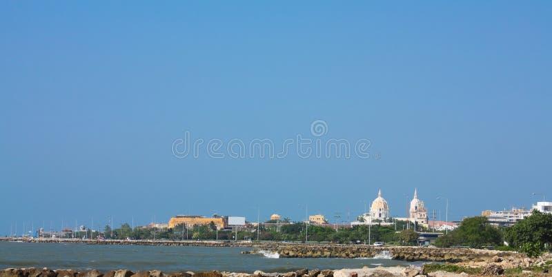 卡塔赫钠哥伦比亚de全景的indias 库存照片