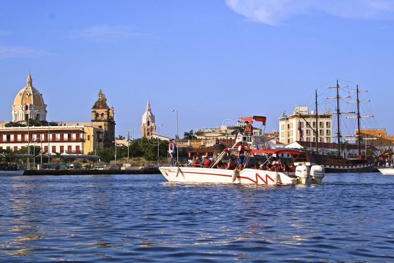 卡塔赫钠哥伦比亚de docks indias 库存图片