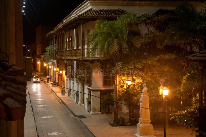 卡塔赫钠在晚上之前,哥伦比亚 库存照片