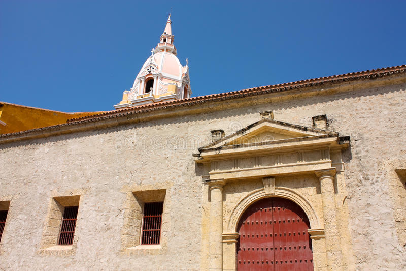 卡塔赫钠大教堂哥伦比亚de indias 免版税库存图片