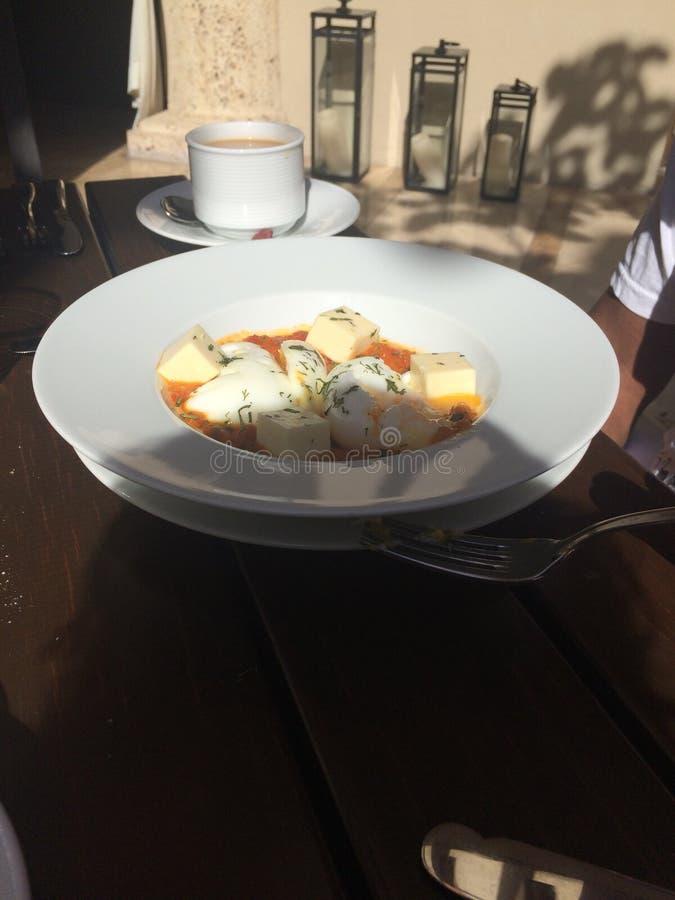 卡塔赫钠早餐 免版税库存照片