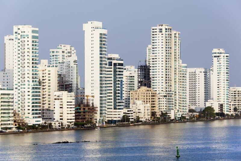 卡塔赫钠的有名望的住宅区 免版税库存图片