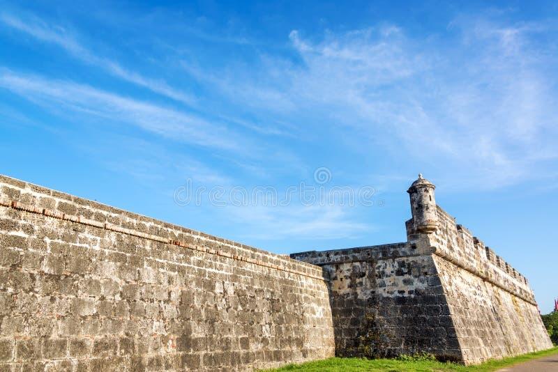 卡塔赫钠,哥伦比亚墙壁  免版税库存照片