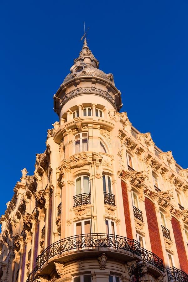 卡塔赫钠Gran旅馆艺术Nouveau穆尔西亚西班牙 免版税库存图片