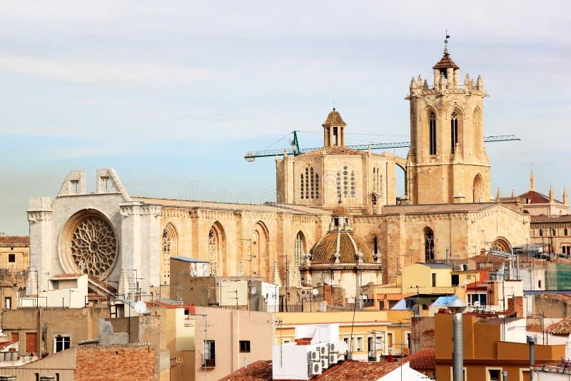 卡塔龙尼亚大教堂西班牙塔拉贡纳 免版税库存照片