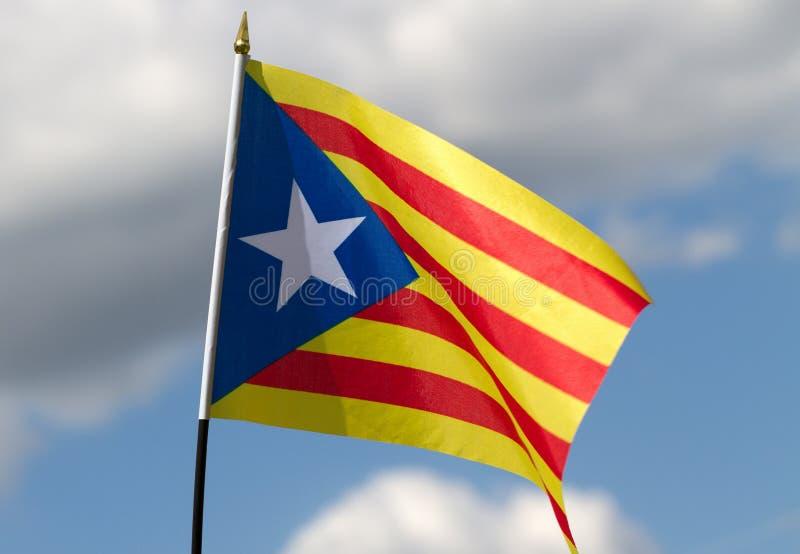 卡塔龙尼亚旗子 图库摄影