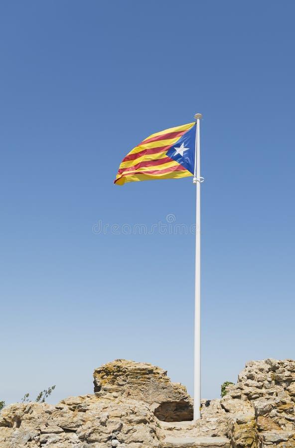 卡塔龙尼亚旗子 免版税图库摄影
