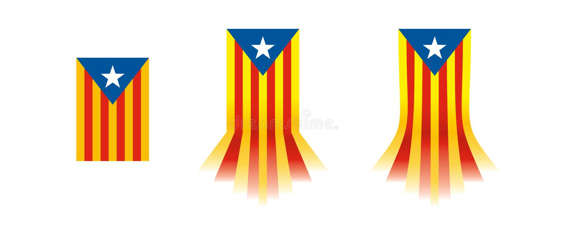卡塔龙尼亚旗子 Catalunya旗子2017年 免版税库存图片