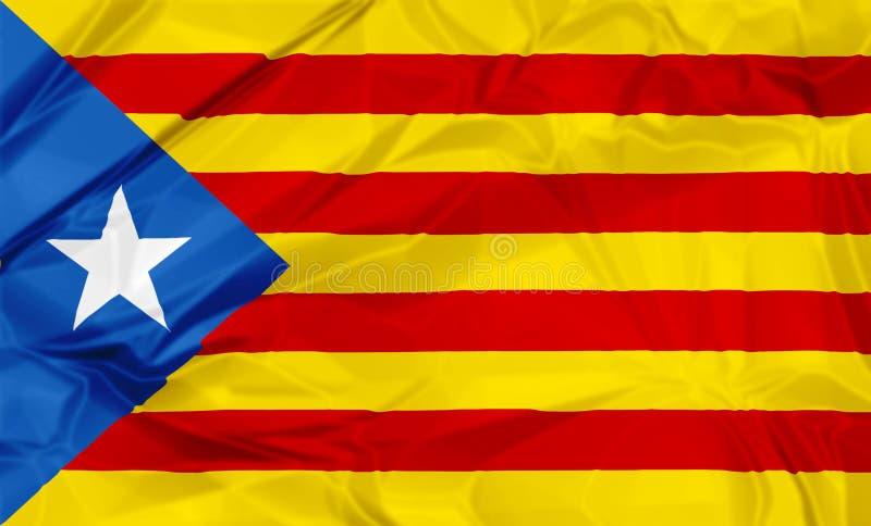 卡塔龙尼亚的Estelada Blava旗子 向量例证