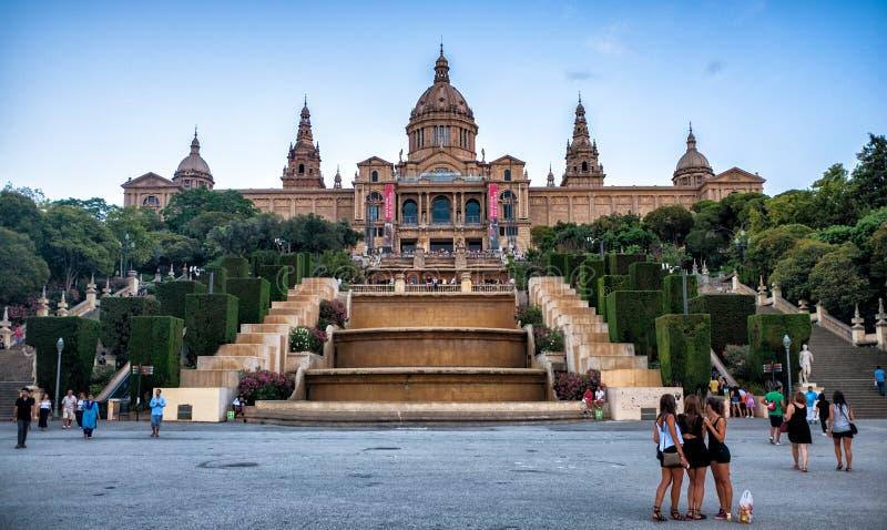 卡塔龙尼亚,巴塞罗那,西班牙的全国美术馆 免版税库存照片