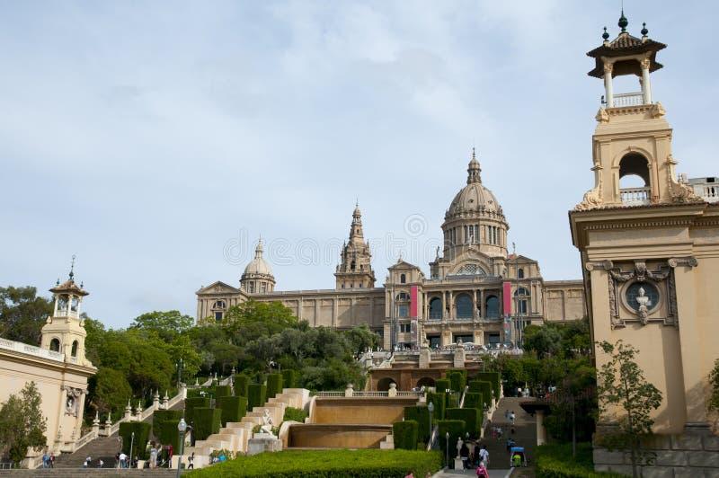 卡塔龙尼亚-巴塞罗那-西班牙的全国美术馆 库存照片