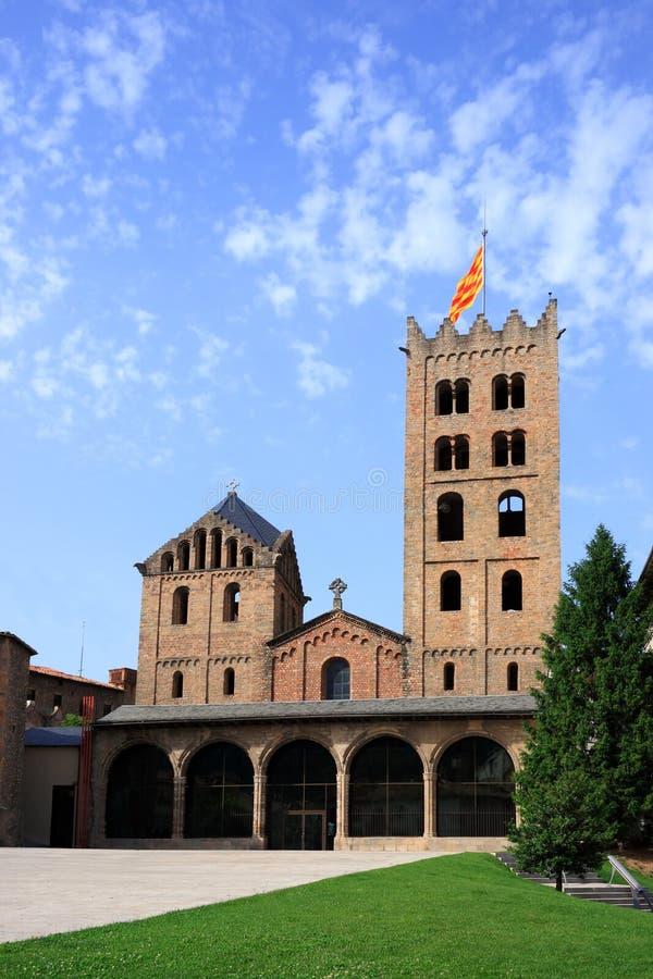 卡塔龙尼亚de玛丽亚修道院ripoll圣诞老人西班牙 库存图片