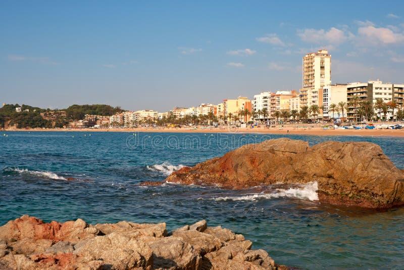 卡塔龙尼亚de lloret 3月西班牙 免版税库存照片