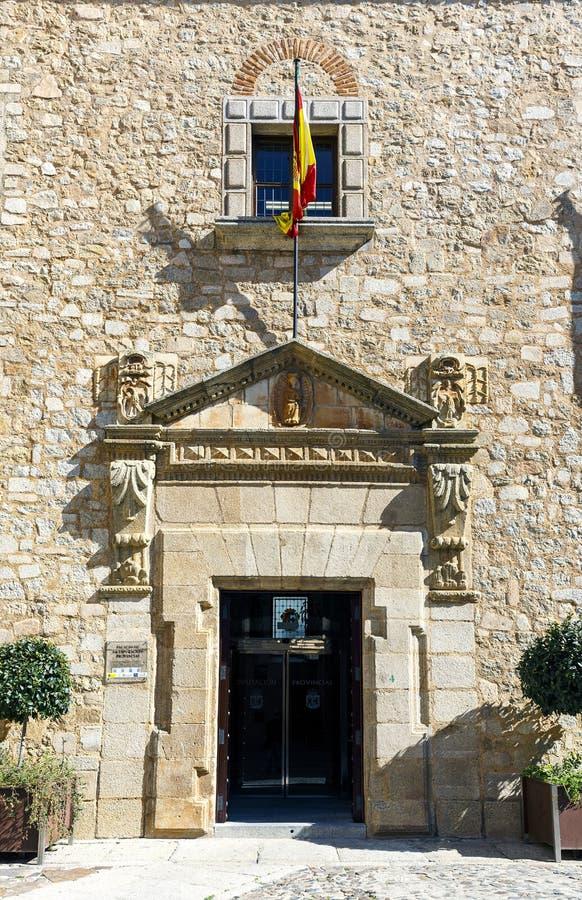 卡塞里斯,西班牙的代表团的宫殿的门面 库存照片