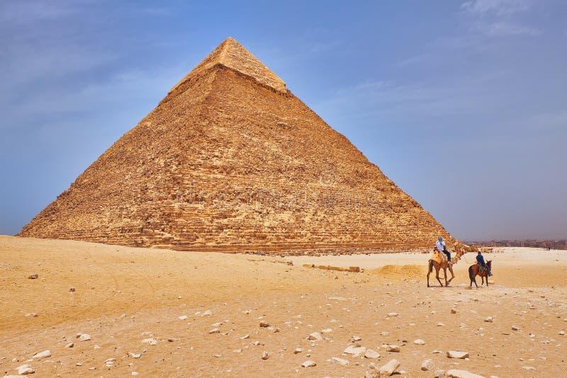 卡夫拉金字塔 — 埃及开罗吉萨高原切夫伦金字塔 免版税库存照片