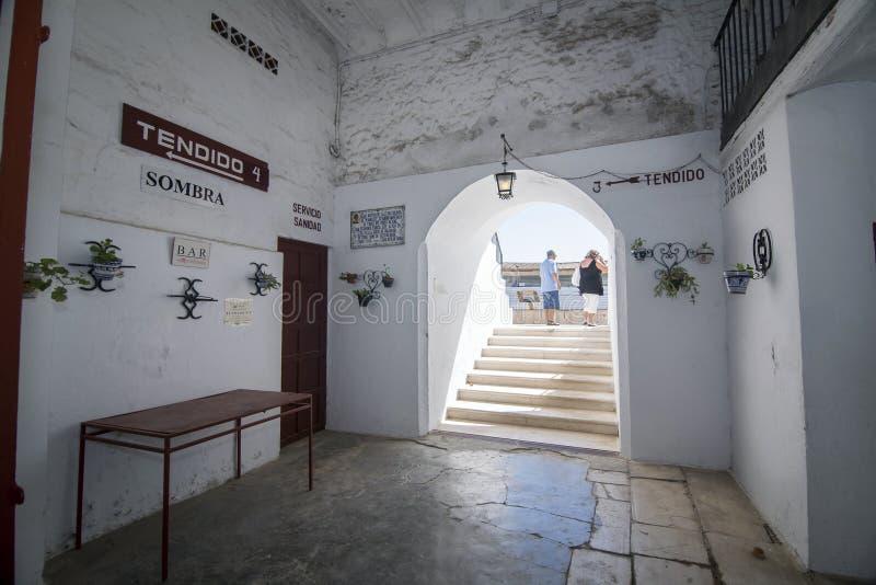 卡夫拉,科多巴,西班牙省斗牛场内部  免版税库存图片