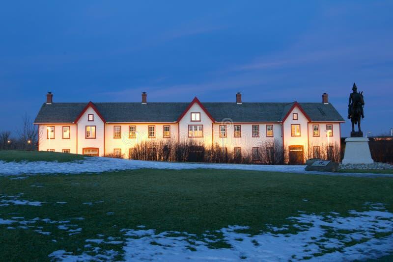 卡尔加里加拿大堡垒有历史的国家站点 库存图片
