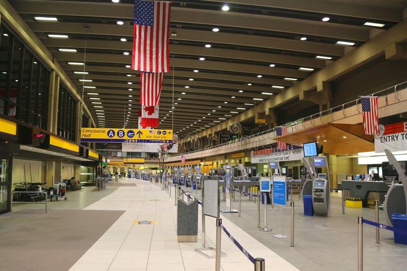 卡尔加里国际机场终端 免版税库存照片