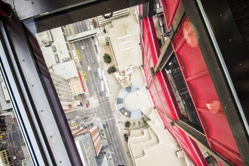 卡尔加里市中心街市看法从上面 免版税图库摄影