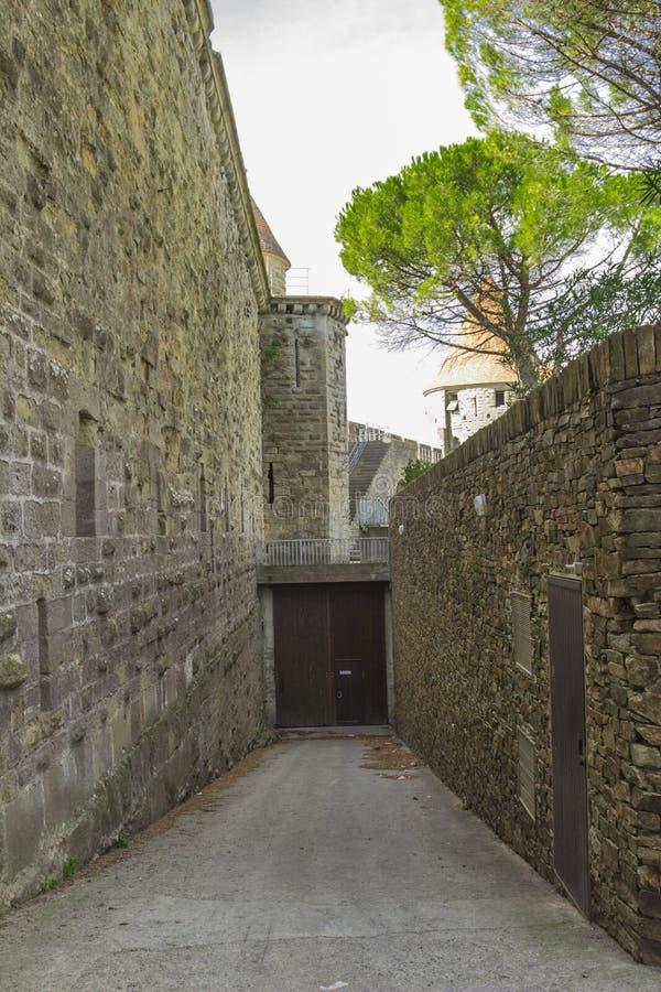 卡尔卡松中世纪堡垒  免版税库存图片