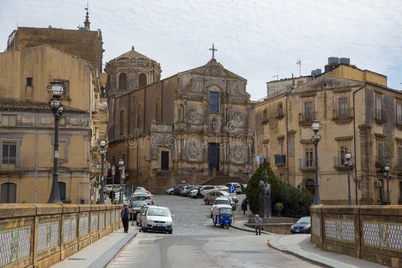 卡尔塔吉龙街道,西西里岛,意大利 库存图片