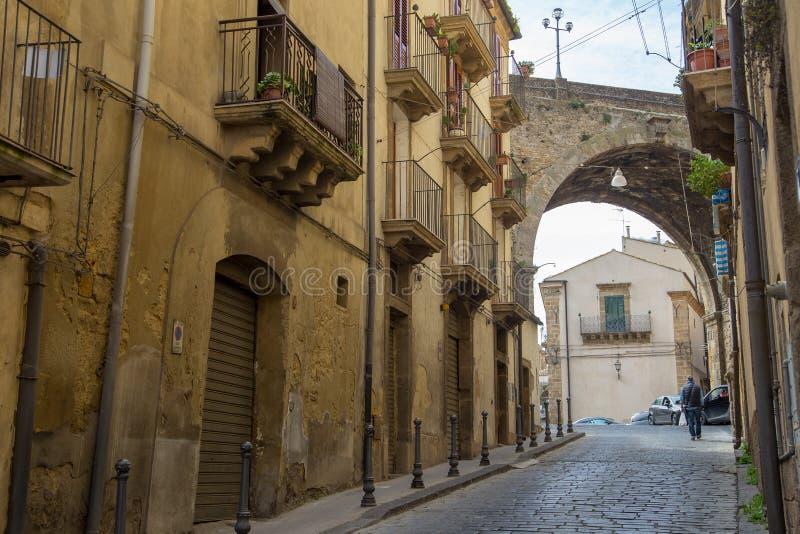 卡尔塔吉龙,西西里岛,意大利 免版税图库摄影
