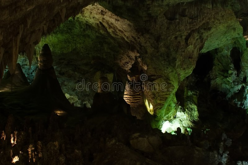 卡尔斯巴德洞穴 免版税库存照片