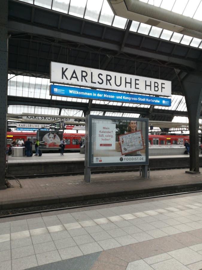 卡尔斯鲁厄火车站 库存图片