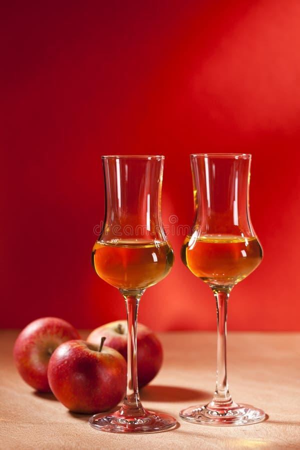 卡尔瓦多斯白兰地酒 免版税库存图片