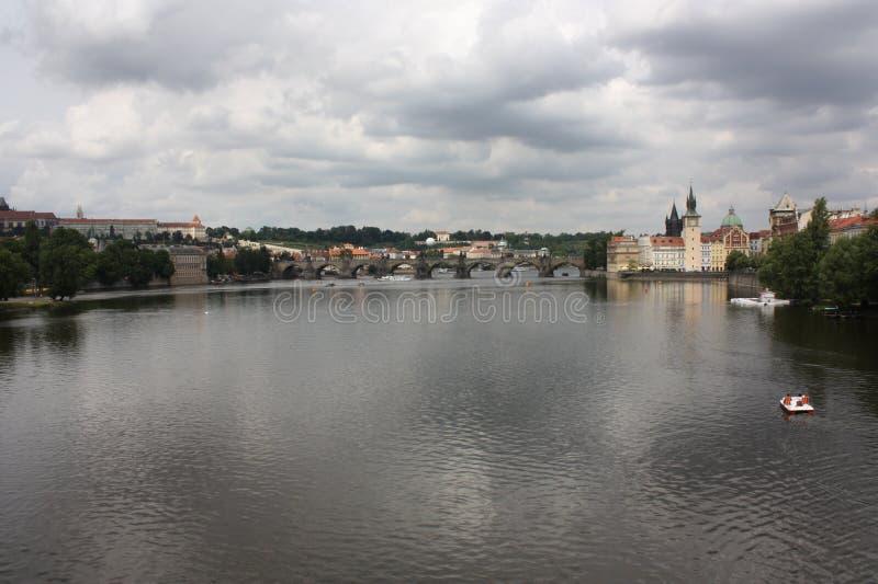 卡尔的桥梁在布拉格 库存图片