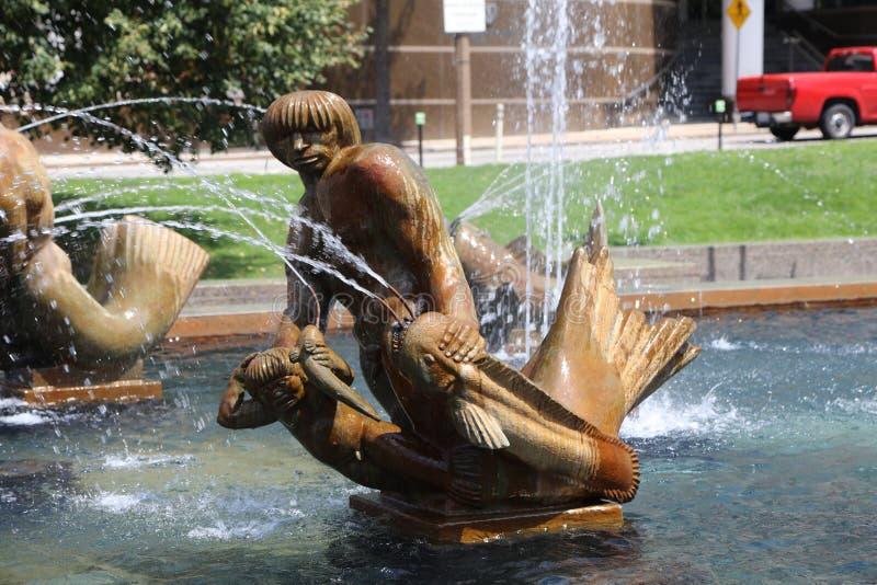 卡尔Milles喷泉雕塑,圣路易斯 免版税库存照片