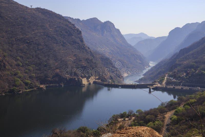 卡布拉巴萨水库水坝 图库摄影