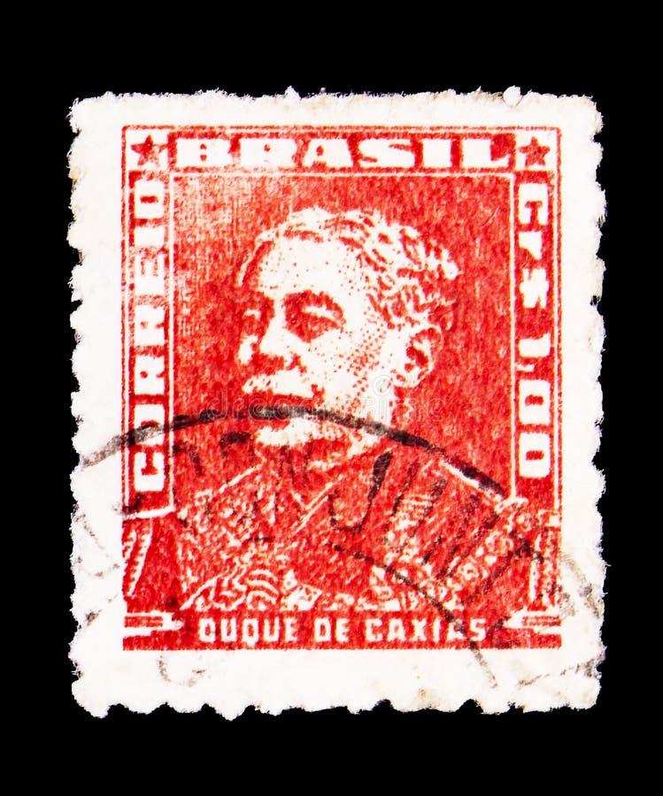 卡希亚斯公爵城,画象-巴西历史ser的著名人 库存照片