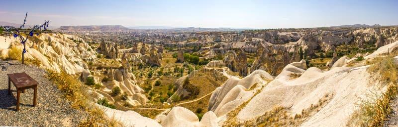 卡帕多细亚洞城市全景 库存图片