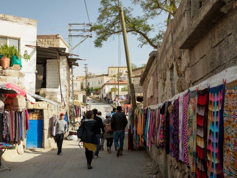 卡帕多细亚,土耳其Kaymakli地下  库存照片