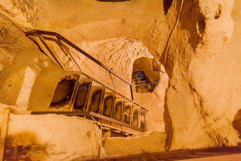 卡帕多细亚土耳其地下市 库存图片