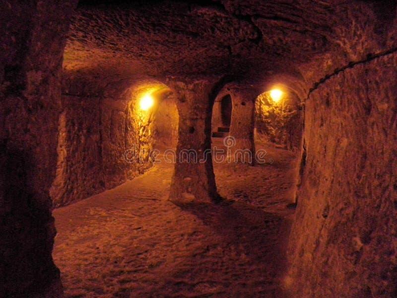 卡帕多细亚地下市 库存照片