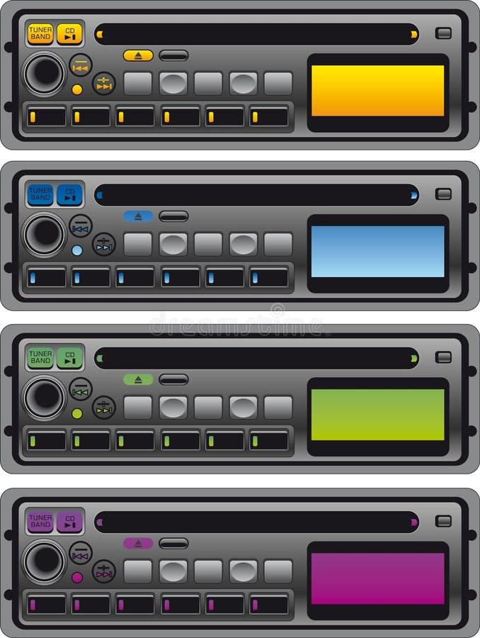 卡式磁带收音机面板  库存例证