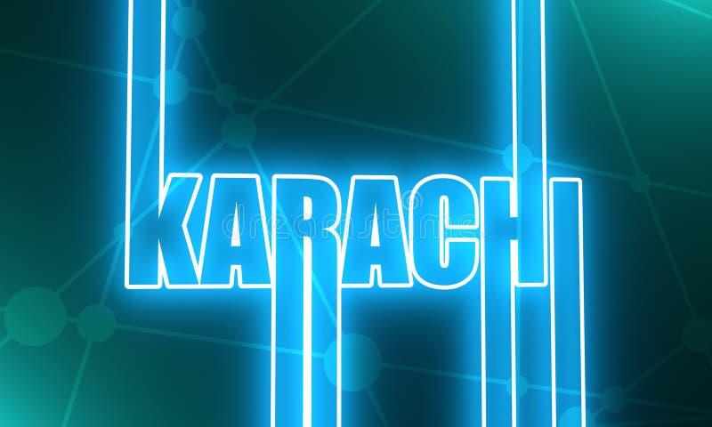 卡拉奇市名字 向量例证