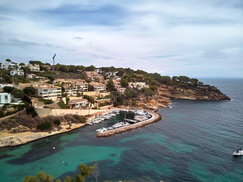 卡拉市del Mago海岸线在马略卡 西班牙 库存照片
