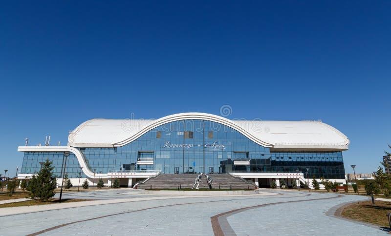 卡拉干达,哈萨克斯坦- 2016年9月1日:卡拉干达ArenaIce P 免版税库存照片