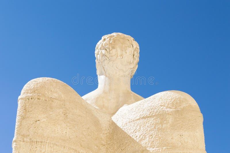 卡拉拉大理石艾卡罗计雕象 免版税图库摄影