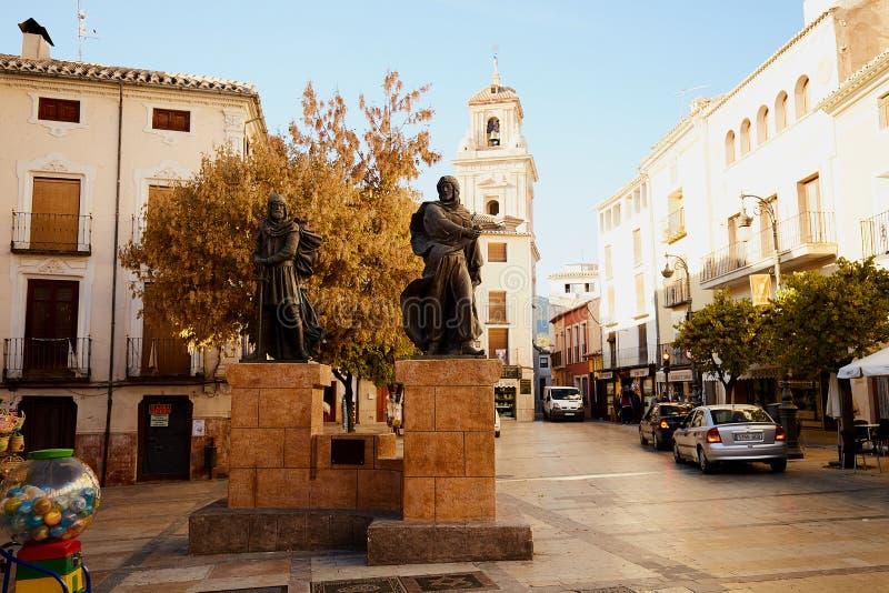 卡拉瓦卡,西班牙- 2017年11月17日:卡拉瓦卡德拉克鲁斯,在穆尔西亚附近的朝圣站点,在西班牙 库存照片