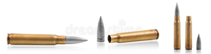 卡拉什尼科夫47子弹弹药筒 免版税库存图片