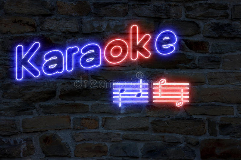 卡拉OK演唱地点 向量例证